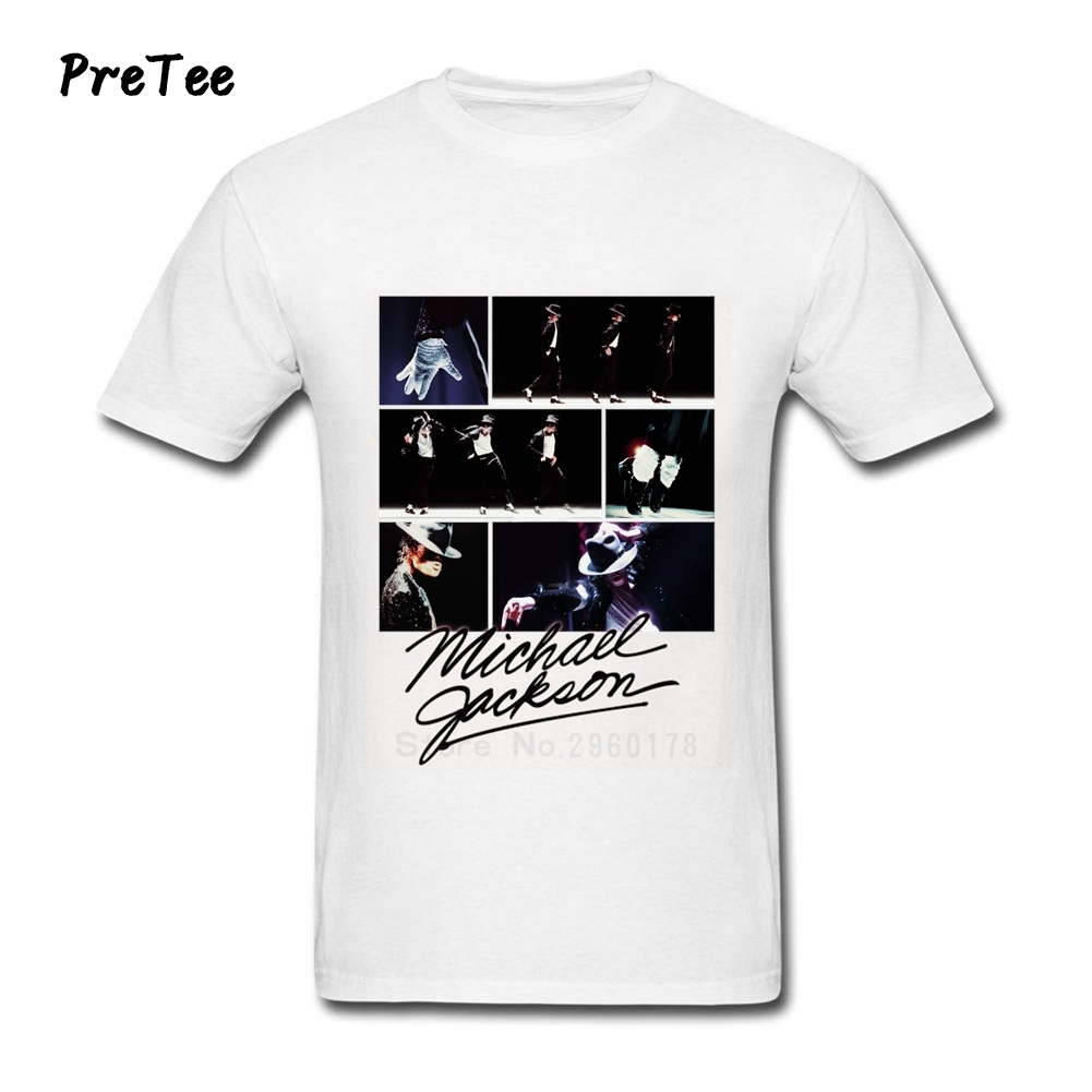 Black t shirt michaels - Michael Jackson T Shirt Men S Pure Cotton Male Short Sleeve Man O Neck Tshirt Teens Tee