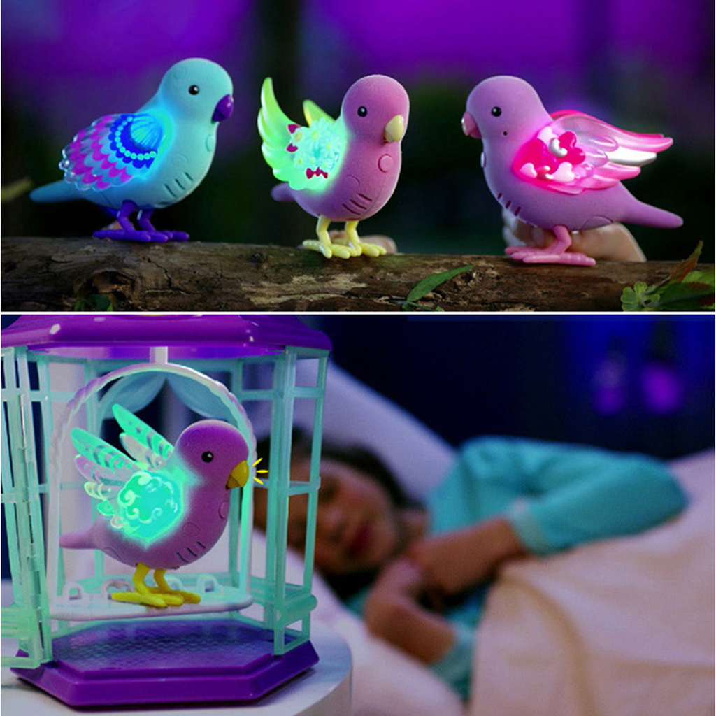 Magical Voice Activate Chirping Sound Control Beautiful Singing Bird Fun Toy New