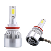 Car Styling 12V LED Car Headlights COB H4 H7 Auto Head Lamp Lights 80W 8000LM Head