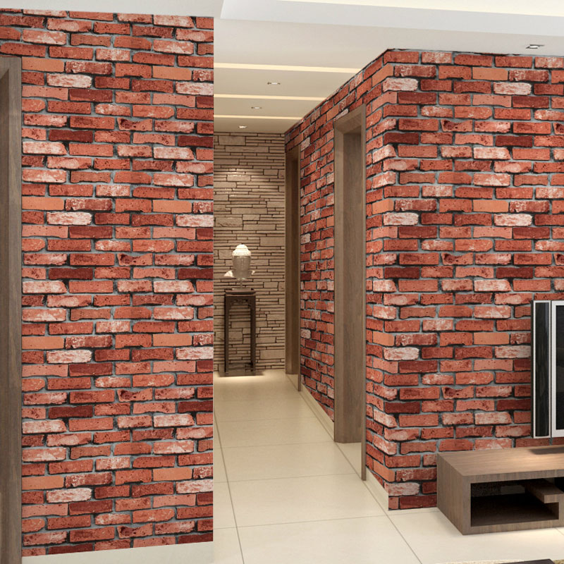 Buy 3d brick wall paper roll grey vinyl for Vinyl wallpaper for walls