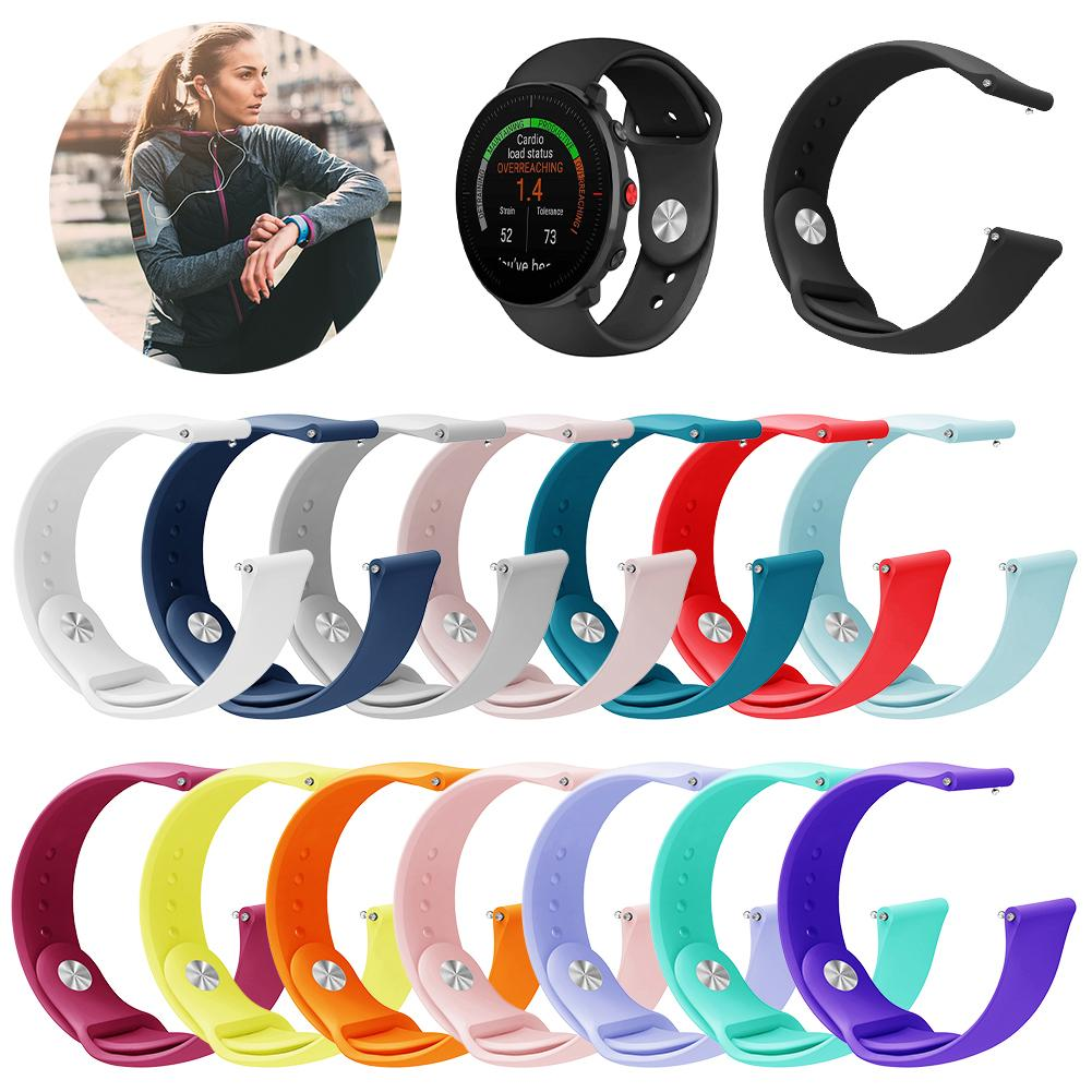 Wrist Band Strap For POLAR Vantage M Smartwatch Band Bracelet Wristband Strap Replacement Accessories Soft Silicone Band Unisex in Smart Accessories from Consumer Electronics