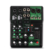 MG06X small home mini 6 professional band effects portable reverb sound card mixer Music audio Effects Processors
