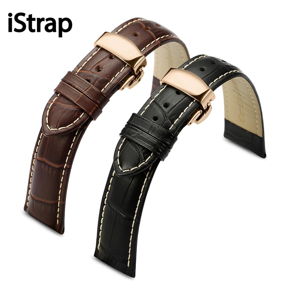 Prix pour Cuir véritable Bande De Montre Bracelet pour Tissot Tudor Breitling Heures 12 13 14 15 16 18mm 19mm 20mm 21mm 22mm 24mm ceinture
