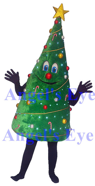 mascot 2014 christmas tree mascot costume high quality newest style christmas mascotte costumes fancy dress suit
