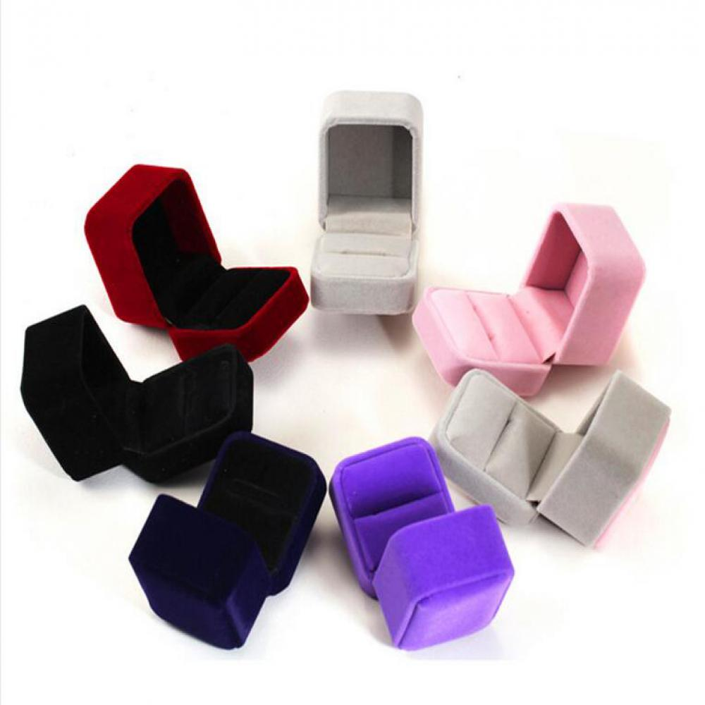 Hot 8 Colors Velvet Engagement Wedding Earring Ring Pendant Jewelry Display  Storage Box Case