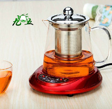 750ml Hand Blown Heatable Borosilicate Glass Teapot with Strainer, -30~ 150 centi degree; Free Shipping