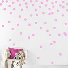 Gold Polka Dots Kids Room Baby Wall Stickers Children Home Decor Nursery Decals For Decoration