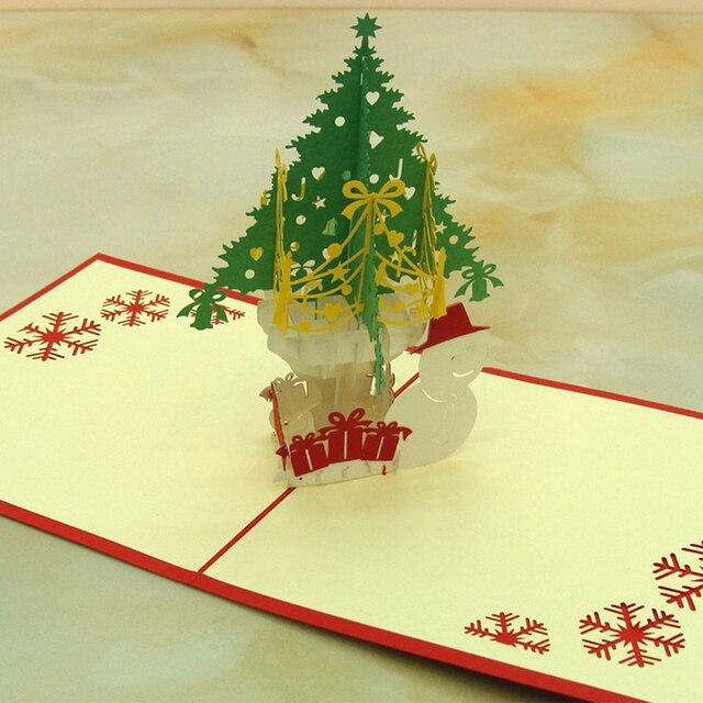 10pcs handmade christmas card craft paper 3d folding pop christmas 10pcs handmade christmas card craft paper 3d folding pop christmas greeting card thanksgiving christmas gift pack m4hsunfo