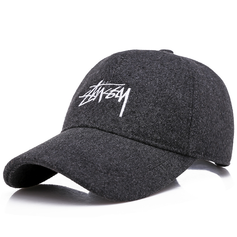 aada3f469fd Detail Feedback Questions about New Men s And women s winter baseball cap  Korean version of the outdoor thick warm warm wild casual wool letter duck  tongue ...