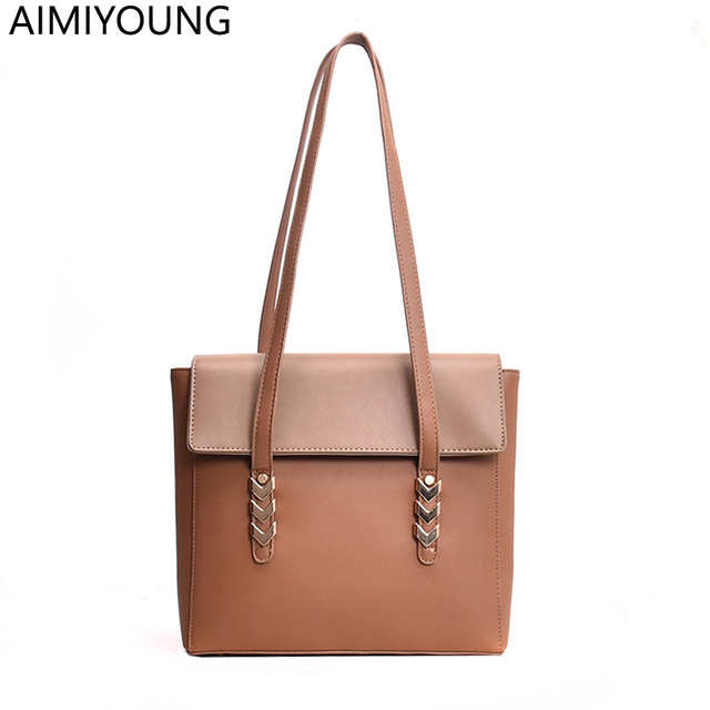 9c41e0c6f5 AIMIYOUNG Women Leather Handbags Shoulder Bags Ladies Designer Tote Bag  Female Handbags Bolsa Feminina Bolsos Mujer