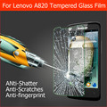 Best 0.33mm 2.5D Anti-shatter explosion proof protector films for lenovo A820 Tempered Glass Screen Protective LCD film +package