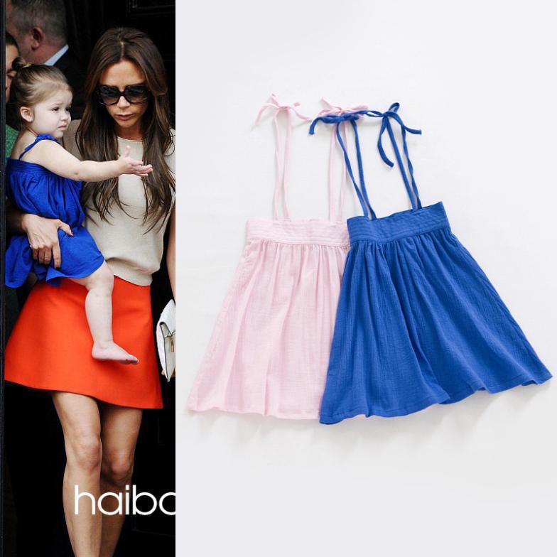 New Spring and Summer Braces DressHarper Seven Beckham Star Baby Cotton Fashion Dress