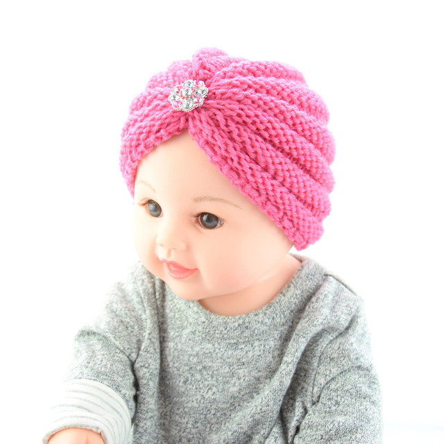 eba0e2bcf US $2.25 30% OFF|Cute Baby Hat Winter Newborn Christmas Baby Toddler Girls  Boys Infant Warm Winter Knit Beanie Hat Crochet Ski Ball Cap MJ1025-in Hats  ...