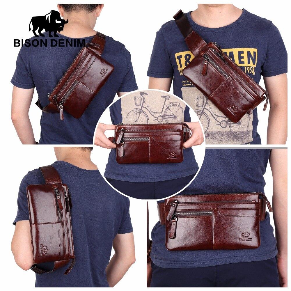 Бизон джинсовые Винтаж из натуральной кожи поясная сумка Ipad мини коровьей поясная сумка Деньги пояс Сумка Для мужчин сумка W2443