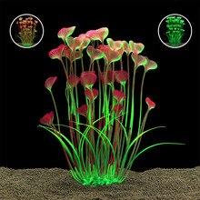 Красивые пластиковые искусственные аквариумные растения Украшения Погружные водные аквариумные рыбки трава орнамент растения аквариум фон