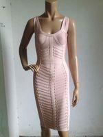 2016 sexy thời trang Top chất lượng phụ nữ mùa hè băng màu hồng đầm bán buôn