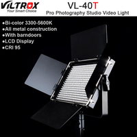 Viltrox VL 40T 540 LED Studio Video 3200K 5600K Slim Bicolor Dimmable LCD Light Lamp for Camera Camcorder