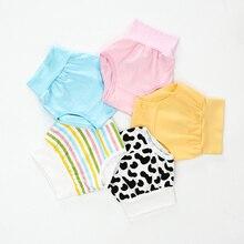 Cute Cartoon Printed Kids Underwear Combed Cotton High Waist Tummy Protected Baby Girls Boys Panties Briefs Children Underpants