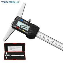 """0 150mm 6"""" Metric Imperial Digital Depth Vernier Caliper Micrometer Stainless Steel Electric Digital Depth Gauge"""