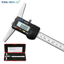 "Paquímetro imperial digital, 0 150mm 6 ""profundidade métrica pinça vernier micrômetro medidor de profundidade digital elétrica"