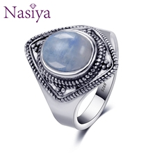 Luxury Brand Vintage Ring For Women Men 925 Silver Jewelry High Quality Moonstone  Ring Party Anniversary Wedding Gift top brand vintage ring for women 925 sterling silver jewelry high quality moonstone party anniversary wedding engagement gift