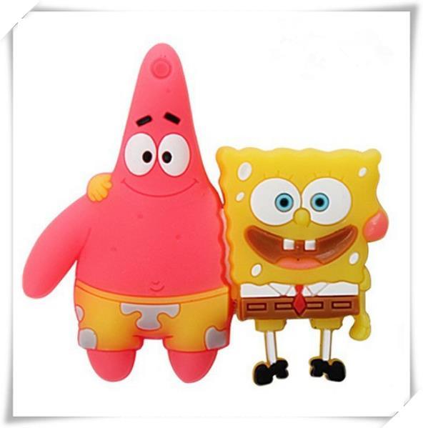 Lovely Sponge Bob star USB 2.0 flash drive 2GB 4GB 8GB 16GB 32GB momery stick pen drive thumb/car/festival/birthday/ gift S246