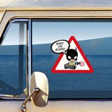 Маленькие Супергерои детские на борте автомобиля-Стайлинг светоотражающие наклейки/наклейки для ford focus vw golf 6 7 hyundai honda kia