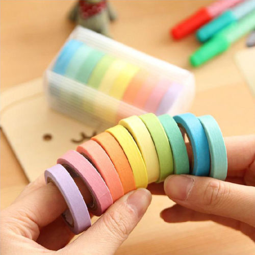 DIY 10 x Washi Tape Set Masking Tape Scrapbook Decorative Paper Adhesive Sticker glitter gold silver foil printing washi tape christmas card washi decorative adhesive tape masking paper tape scrapbook gif