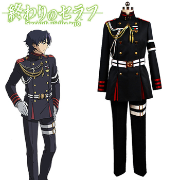 Anime! Seraph of the End Guren Ichinose Military Uniforms Cosplay Costume Halloween Party Stage Performance Suit Free Shipping