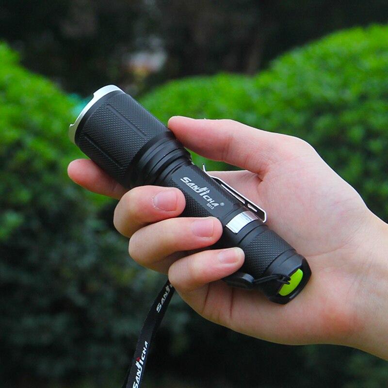 Led flashlight charging household focusing long-range  Mini zoom self-defense waterproof outdoor riding