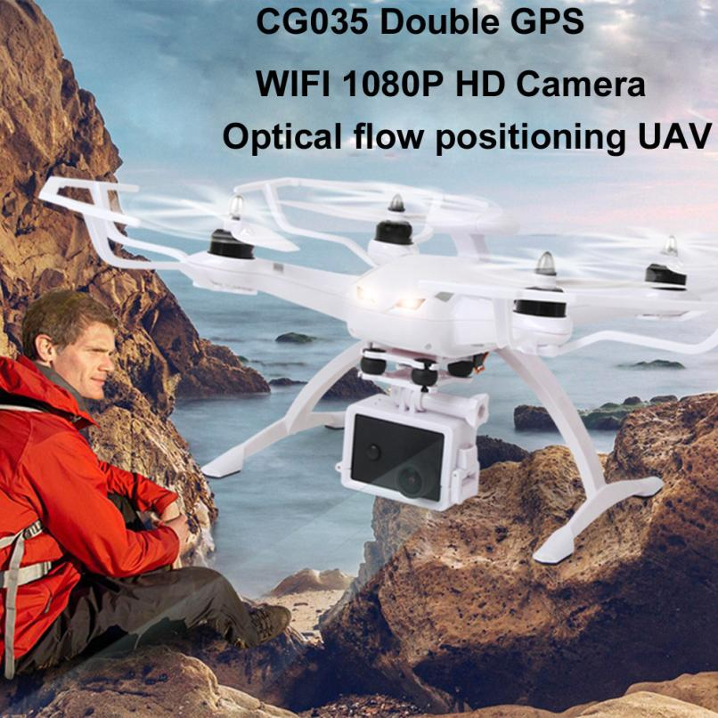 For 14year old White Drone CG035 WiFi FPV HD1080P Gimbal Camera Double GPS Brushless Quadcopter(with dual GPS) gift st22 p35 gps навигатор lexand sa5 hd