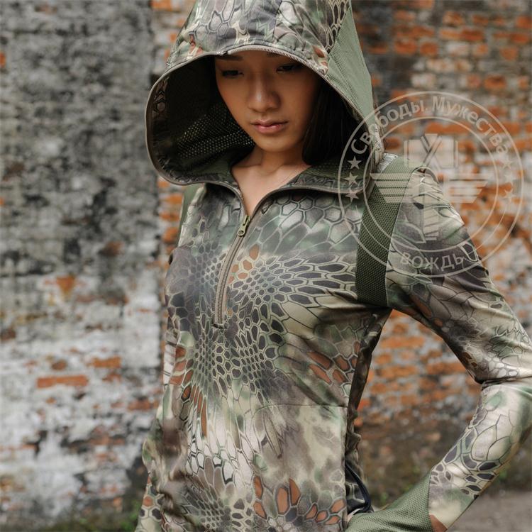Kryptek typhon camo կանայք Hoodie, որս արագ չոր - Սպորտային հագուստ և աքսեսուարներ - Լուսանկար 1