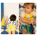 Bbk bobo choses a nova primavera e verão 2016 crianças calças de algodão papa impressão bebê da menina do menino pão pp calças calças crianças