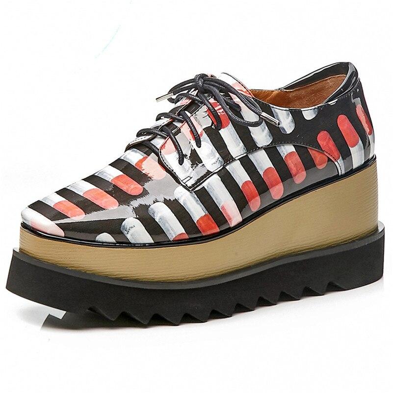 Chaussures formes Nouvelles Sexy Automne Nouveau Cuir Fedonas En De Printemps Véritable Corss Plates attaché Femme Femmes 1 2 Sport Appartements CP01wCxqnF