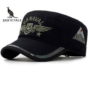 89af7f6f71638 SAN VITALE Hats Caps Men Fitted Army Snapback Hip Hop Bone