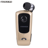 Wireless Bluetooth Earphone FineBlue F910 Calls Remind Vibration Headset With Collar Clip For IPhone Samsung Handfree