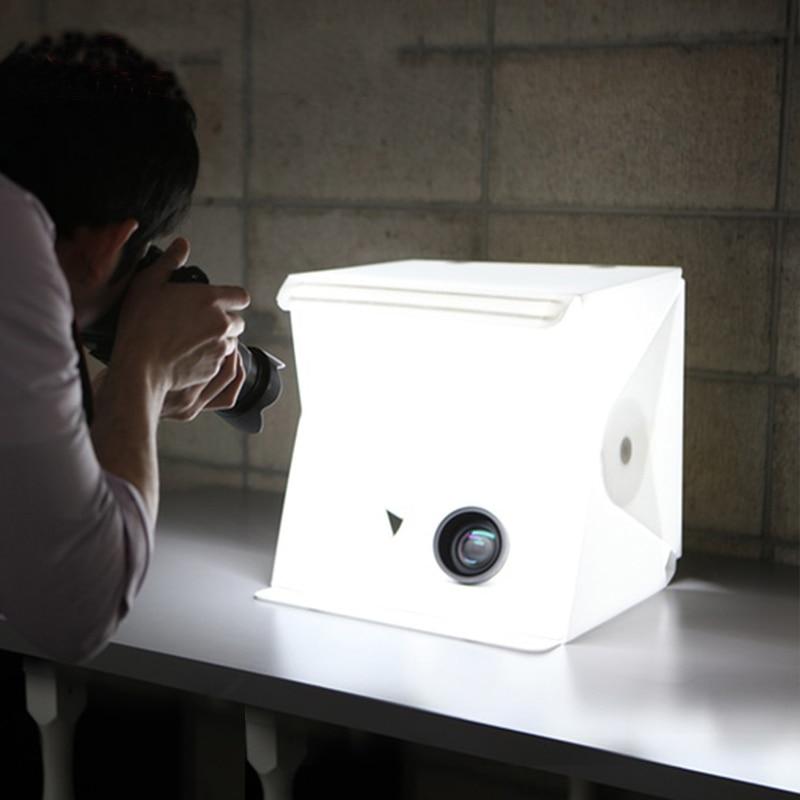 Portable Folding Lightbox Photography LED Light Room Photo Studio Light Tent Soft Box Backdrops for Digital DSLR Camera