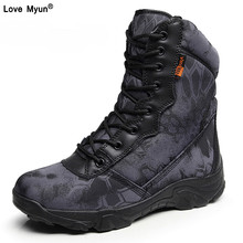 Winter Men Military Army Boots Vintage Lace Up Front Leather Mens Tactical Boots High Top Safety Work Shoes Combat Ankle Boots88