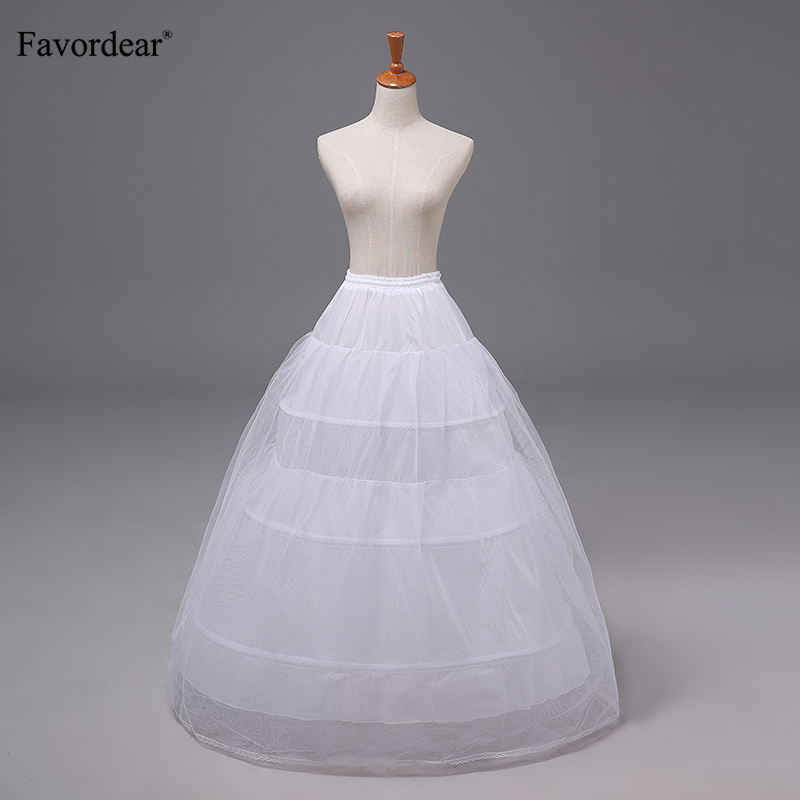 Wedding Accessories Constructive Favordear Underskirt White Wedding Dress Petticoat Elastic Waistband Tie Rope 3 Hoop 1 Tier 2 Tier Yarn Performance Petticoat Relieving Rheumatism Petticoats