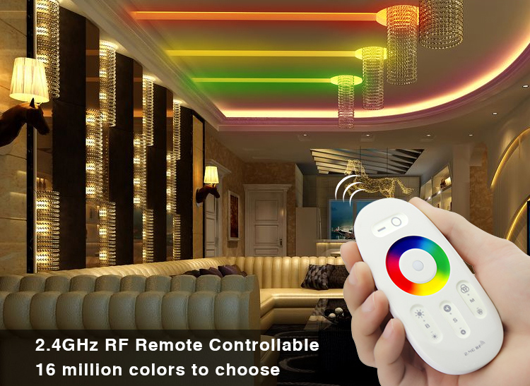 Rgb Controlers Fut025 Milight Dc12-24v 2.4g Wireless Touch Screen Led Rgb Controller 18a Rf Remote Control For Led Rgb Strip/bulb/downlight/tap To Have A Long Historical Standing Lights & Lighting