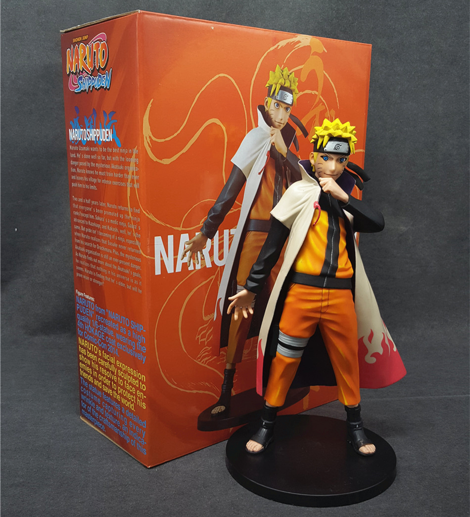 Naruto Shippuuden Hokage suit Uzumaki Naruto PVC Action Figure  Anime Toy Collectible Model Doll 15CM naruto sabio Free shipping anime one piece dracula mihawk model garage kit pvc action figure classic collection toy doll