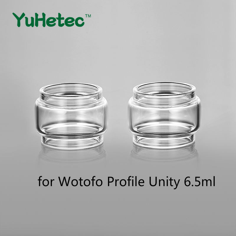 2PCS YUHETEC Glass Tank For  Wotofo Profile Unity RTA 3.5ml / 5ml / 6.5ml