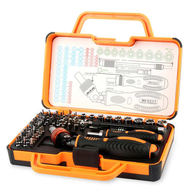 JAKEMY 69in1 Multi Function Hand Tools Repair Kit Screwdriver Set Repair Phone Pad Household Appliances Cell