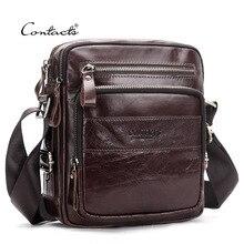 Men Bag Male Shoulder Fashion Bag Genuine Leather Crossbody Messenger Small Oil Wax Casual Flap Business Travel Handbags Gift