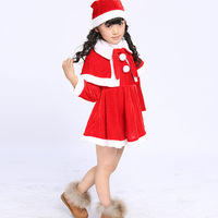 2015 New Winter Christmas Girls Dress Children Christmas Party Costumes For Girls And Boys Kids Clothes