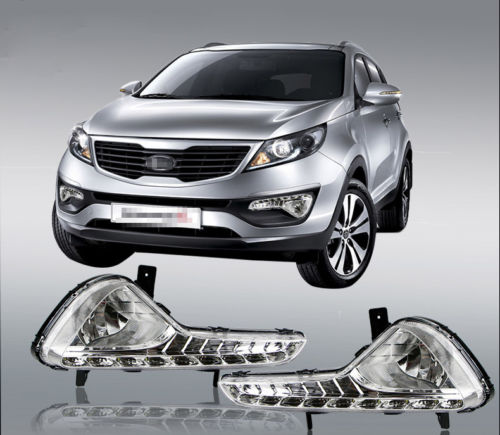 DRL Car LED Daytime Running Light Foglight Modified For Kia Sportage R 2010 2015