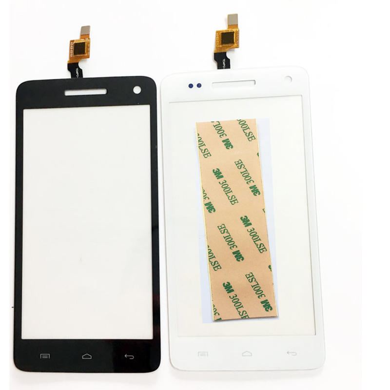 Black New TouchScreen  For Explay Fresh Touch Screen Digitizer Front Glass Replacement Sensor Free Shipping+3M Sticker
