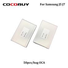 Novecel Free Shipping 50pcs/lot 250um OCA Optically Clear Adhesive Transparent Glue Laminated Plastic For Samsung J5 J7