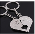 Couple Keychain key ring Chaveiros wholesale gift for best friend love heart pendant pendant key chain Llavero Chaveiro Joyas