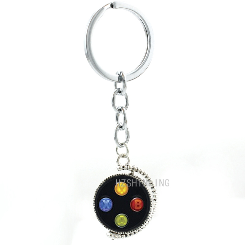 Video Game Xbox Controller double sides pendant keychain fashion music 5 SOS TomorrowLand men women key chain ring jewelry T167